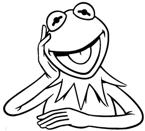 kermit the frog coloring page coloring home