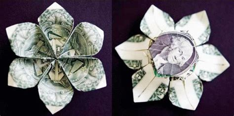 Dollar Bill Origami Flower - to a and get pdf from make on how