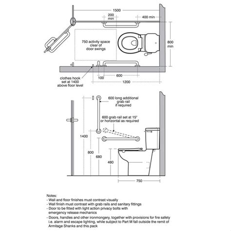 ambulant toilet layout uk doc m ambulant close coupled individual items doc m