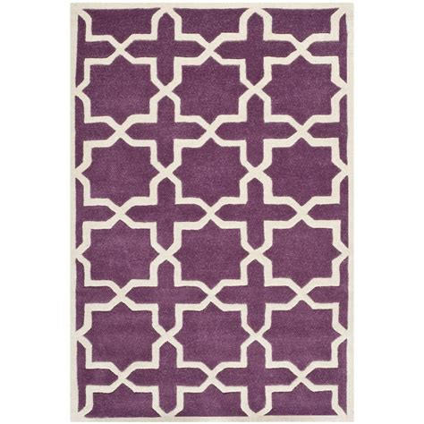 Kitchen Rugs 6ft by Safavieh Chatham Purple Ivory 4 Ft X 6 Ft Area Rug