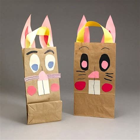 Paper Lunch Bag Crafts - 22 easy bunny crafts about family crafts