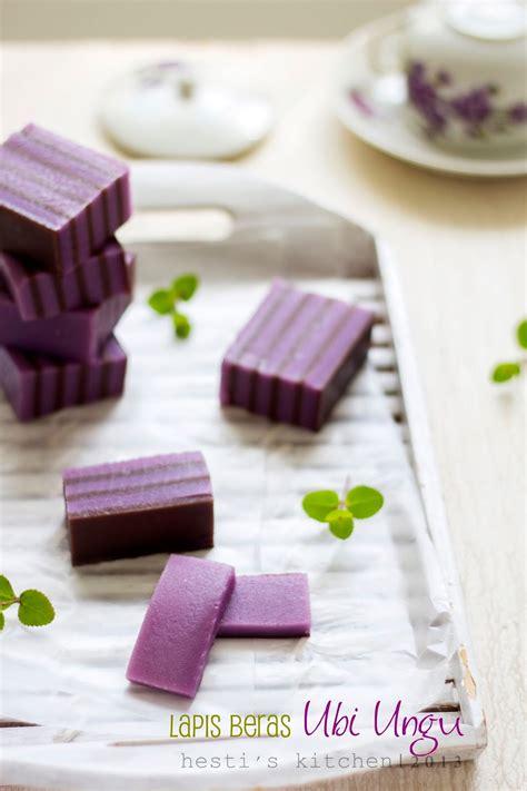 hestis kitchen yummy   tummy lapis beras ubi ungu