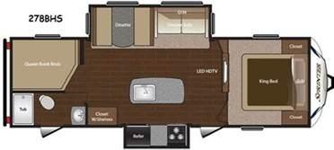 King Size Bed Travel Trailer New 2014 Keystone Rv Sprinter 278bhs Travel Trailer At