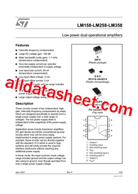 transistor e13007 datasheet pdf lm358n datasheet pdf stmicroelectronics