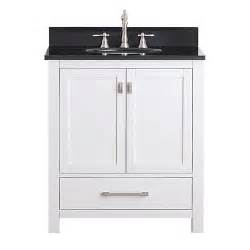modero white 30 inch vanity combo with black granite top