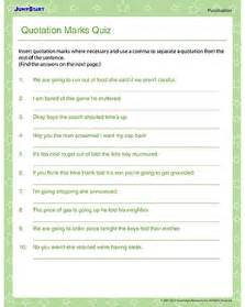 quotes worksheet quotes