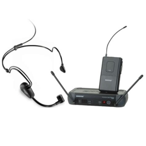 Mic Wireless Shure Pgx 228 Clip On Headset shure pgx14 wireless headset and lavalier microphone rental dj peoples