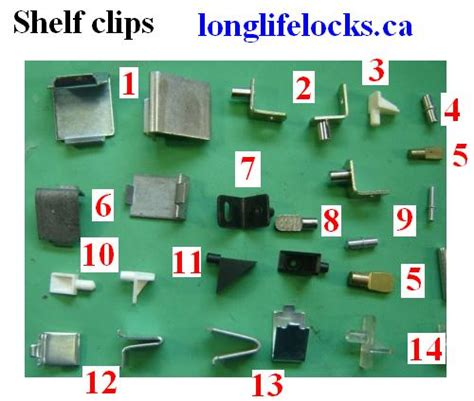 Shelf clips for office furnitue , book cases storage cabinets
