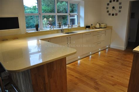 Painted Black Kitchen Cabinets odyssey cream gloss kitchen with solid oak end panels