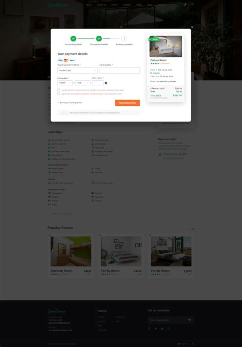 Room Book Preview Green Hotel Psd Template By Yulko Themeforest