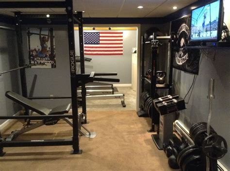 heim fitnessstudio rogue equipped garage gyms photo gallery diy fitness