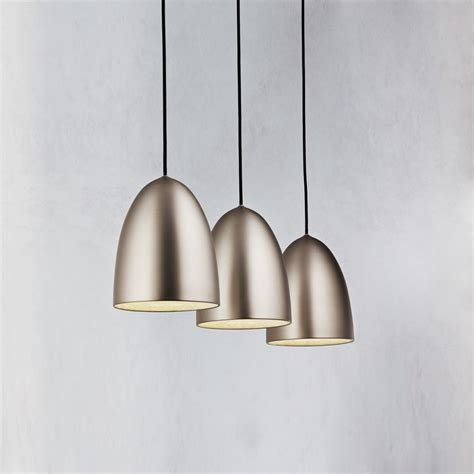 Brushed Steel Pendant Light Nexus 20 Bar Pendant Brushed Steel Lighting Direct