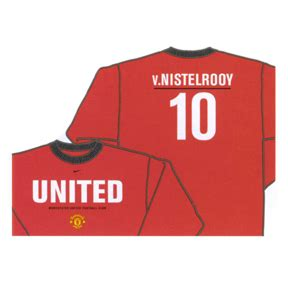 Tees Manchester United Desain Kode Munited 11 Nike Manchester United Nistelrooy 10 Sleeve