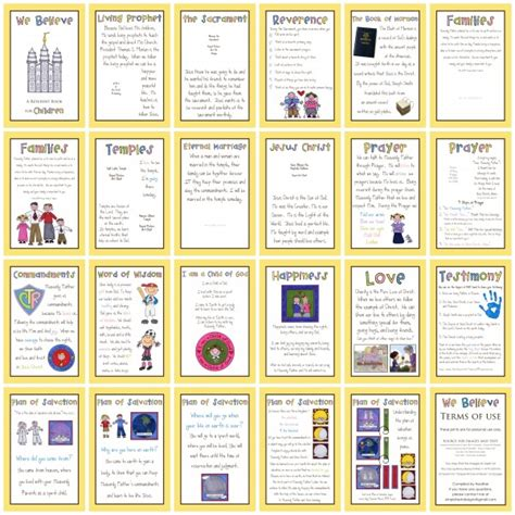 printable pictures of books we believe lds book printable printables 4