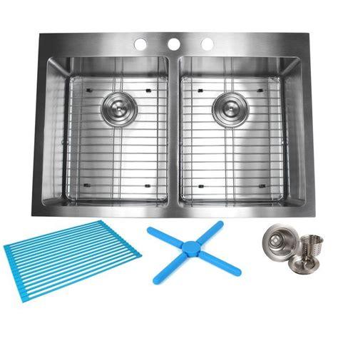 33 x 22 drop in kitchen sink kitchen sink 33 215 22 ariel 33 x 22 basin drop in