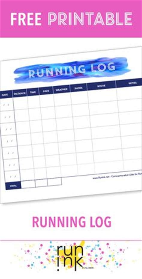 relay for walking schedule template running log template to and print from www