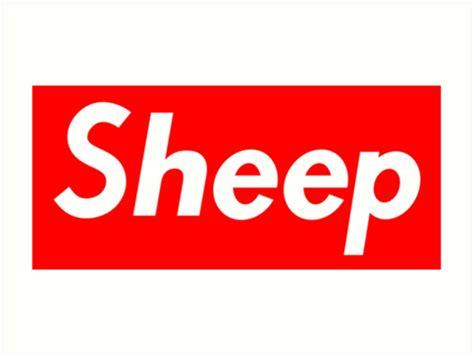 Kaos Supreme Logo Box 23 quot supreme sheep box logo quot prints by ralex147 redbubble
