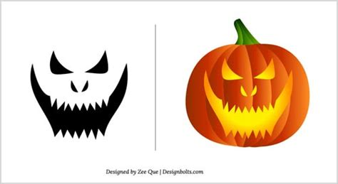 free scary pumpkin carving patterns 2012 10