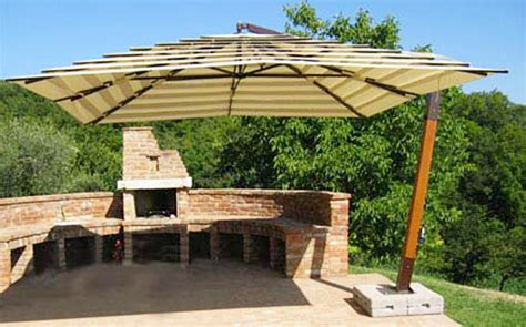 Large Offset Patio Umbrellas The Most Awesome And Attractive Large Patio Umbrellas Intended For House Daily