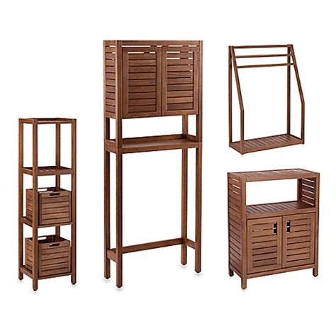 Teak Bathroom Furniture Stained Teak Bathroom Furniture In Brown Www Bedbathandbeyond