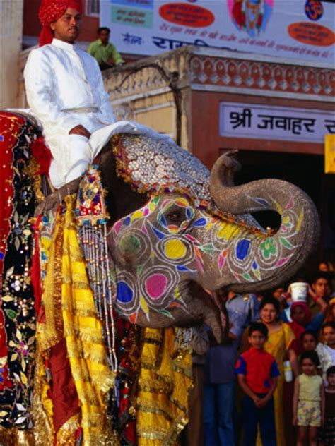 Decorated Elephants by Decorated Indian Elephant Painted Elephants Ganesh