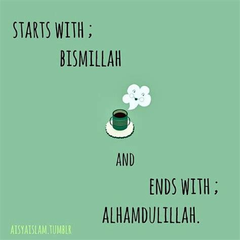 Kaos Islami Islamic Quote 1 starts with bismillah end with alhamdulillah the