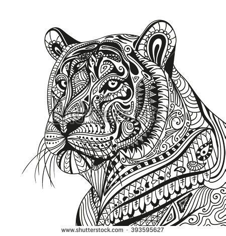 tiger mandala coloring pages 728 best images about coloring pages on pinterest gel