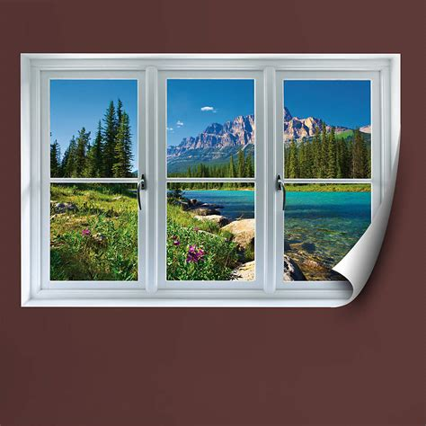 Life Size Athlete Wall Stickers banff mountains in bloom instant window wall decal shop