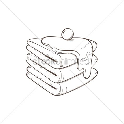 Drawing Vectors by Crepe Cake Vector Image 1869230 Stockunlimited