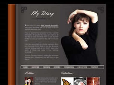 free personal site template free personal website templates 770 free css