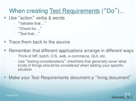 Requirements For Tester by Test Requirements For Sqa