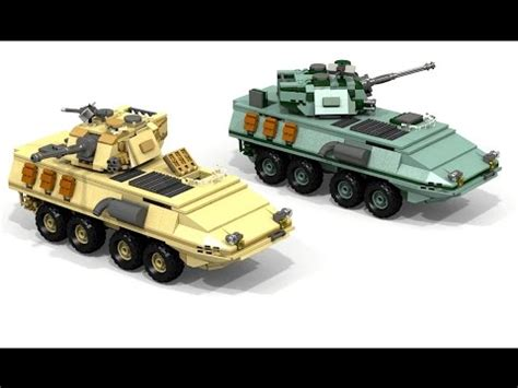 lego apc tutorial lego military lav stryker how to make do everything