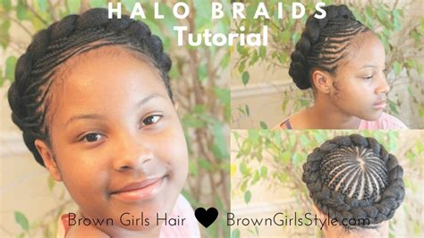 halo braid african american hair halo braidhairstyle tutorial brown girls style