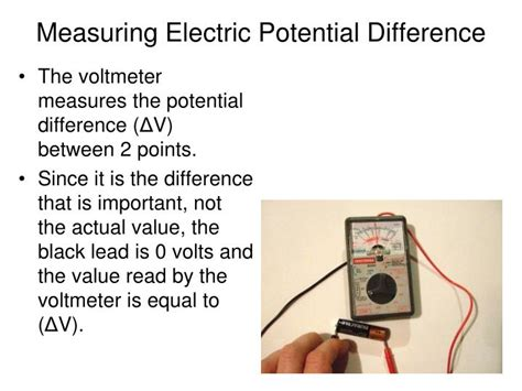 what is used to measures the potential difference across a resistor ppt electric potential and electric potential energy powerpoint presentation id 1336479