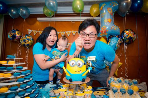 themed birthday party singapore reuben 1st year minion themed birthday party daddychow