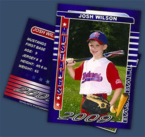 sports trader card templates sports teams individuals scholastic photography