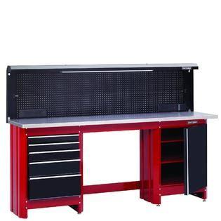 craftsman  workbench frame red