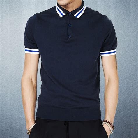Sweater Polos Hoodie Jumper Biru Navy Xl and summer navy blue turn collar sleeve sweater polo shirts fashion s