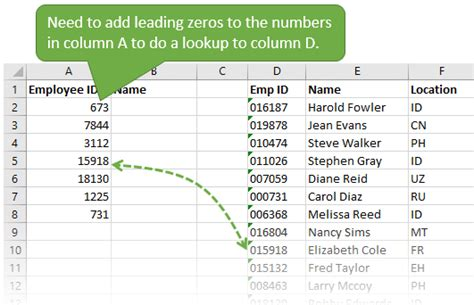 java pattern leading zeros excel convert to text with leading zeros import a csv