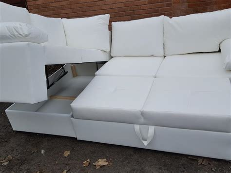 White Leather Corner Sofa Uk Brand New White Leather Corner Sofa Bed Storage Can Deliver Sandwell Sandwell Mobile