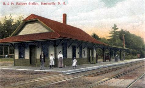 b m railway station harrisville new hshire early