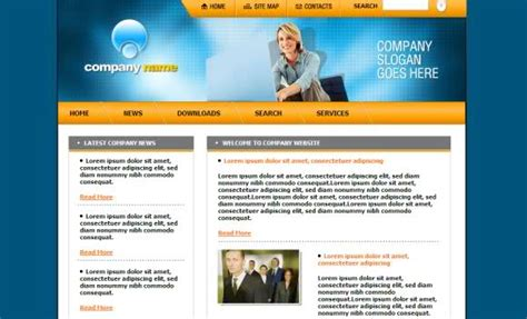 html business templates free with css free business blue yellow web template