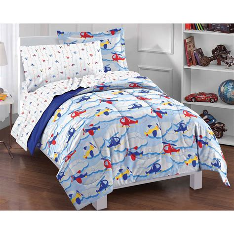 planes clouds twin bedding set 5pc helicopter airplane