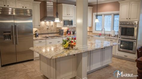Kitchen Travertine Backsplash Typhoon Bordeaux Kitchen Granite Countertops