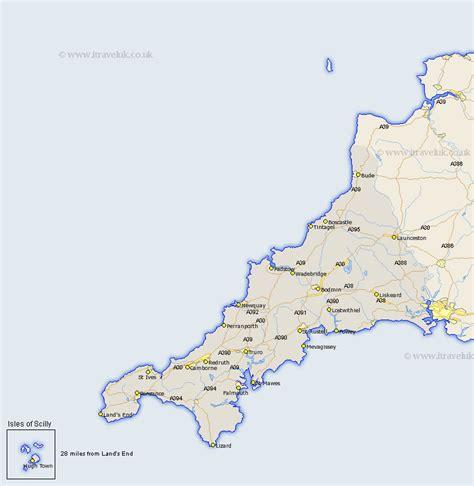 map uk cornwall cornwall map county maps uk