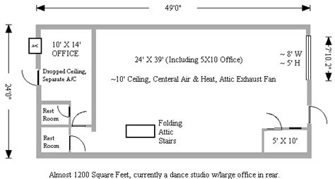dance studio floor plans u sell it realty list