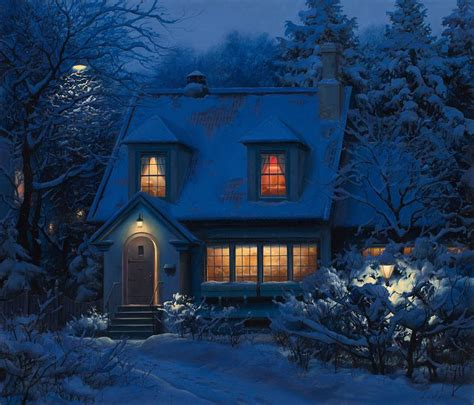 winter house by evgeny lushpin pixdaus