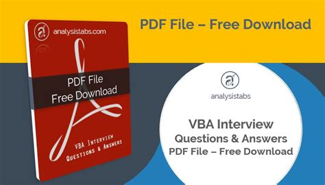 vba tutorial questions vba interview questions and answers pdf free download