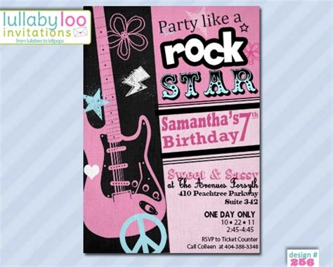 Free Printable Rock Star Birthday Party Invitations Template Free Invitation Templates Drevio Rock Birthday Invitation Templates