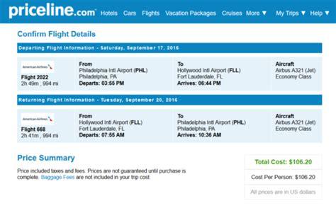 Priceline Car Rental The Flight Deal American 106 Philadelphia Fort